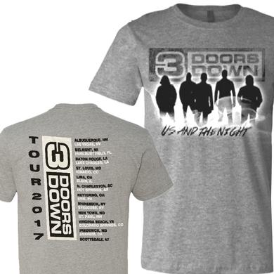 3 Doors Down Dark Heather Tour Tee
