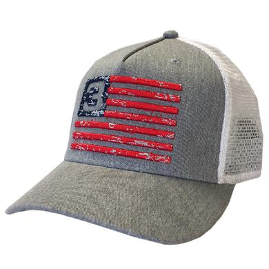 3 Doors Down Grey and White Flag Ballcap