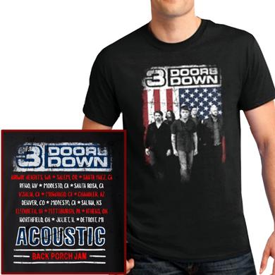 3 Doors Down Black Photo Tee- 2018 Back Porch Jam