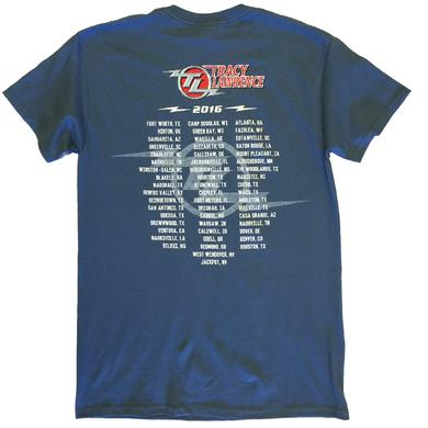 Tracy Lawrence Indigo Blue Tee
