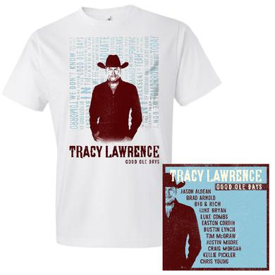 Tracy Lawrence Good Ole Days Tee and CD Bundle- PRESALE