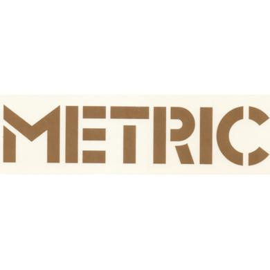 Metric Gold Vinyl Sticker