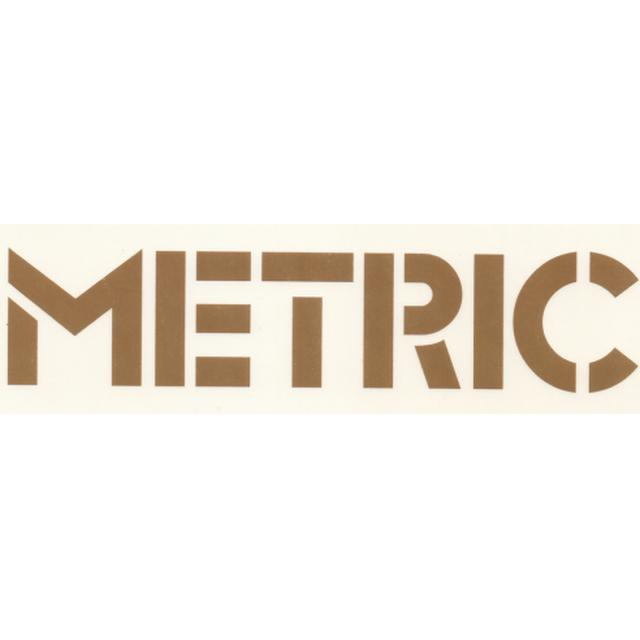 Metric Gold Vinyl Sticker