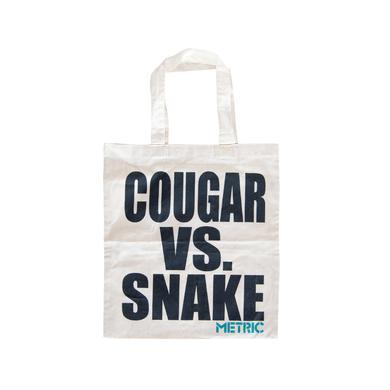 Metric Cougar vs. Snake Tote Bag