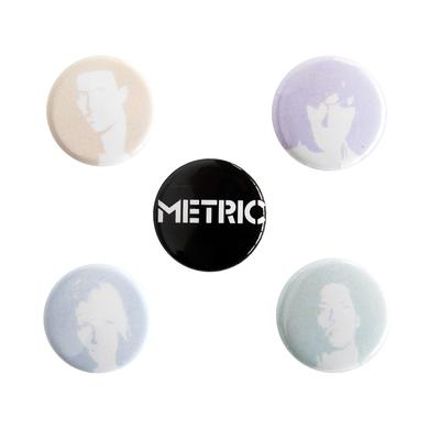 Metric Fall 2009 Tour Pin Pack