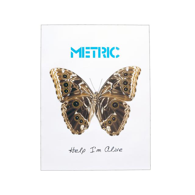 Metric Help I'm Alive Butterfly Poster