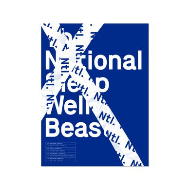 The National US Tour Poster - October 2017 (Blue)