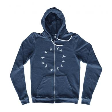 Half Moon Run Unisex Birds Zip Hoodie