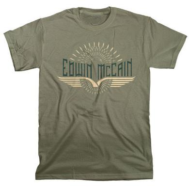Edwin McCain Olive Wings Tee