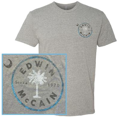 Edwin McCain Dark Heather Grey Logo Tee