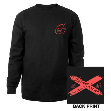 The Chainsmokers RED X LOGO LONG SLEEVE TEE