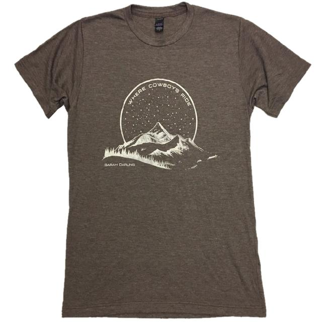 Sarah Darling Heather Brown Where Cowboys Ride Tee