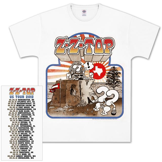 ZZ Top Recreation Vintage Tour T-Shirt