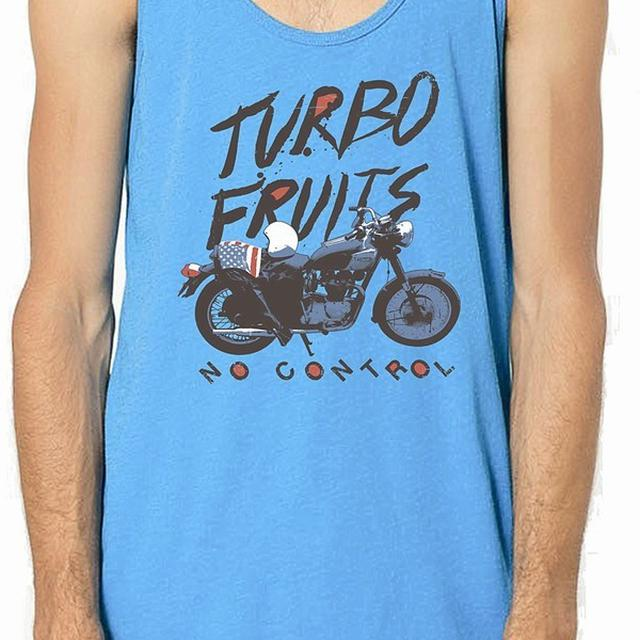 Turbo Fruits Motorcycle Blue Tank