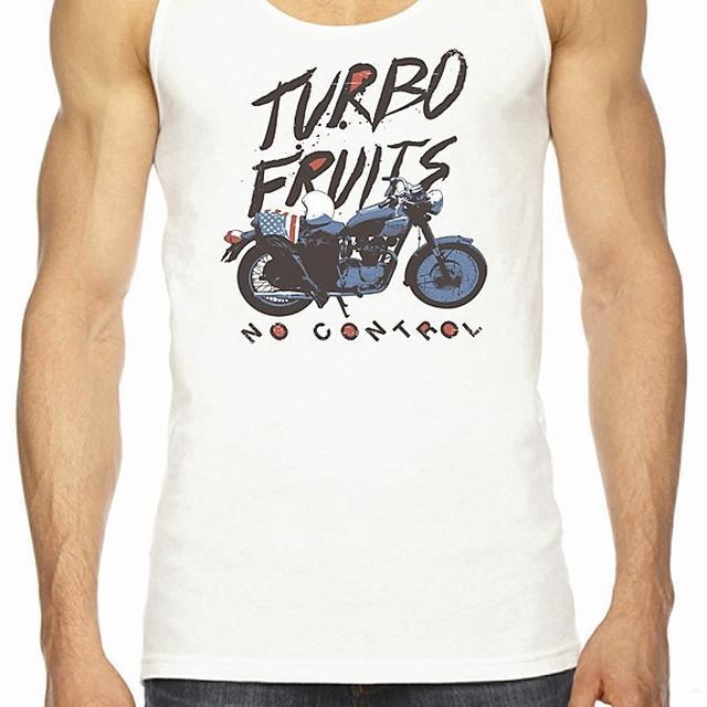 Turbo Fruits Motorcycle White Tank