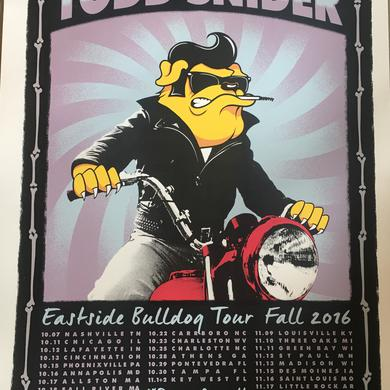 Todd Snider Fall 2016 Tour Poster