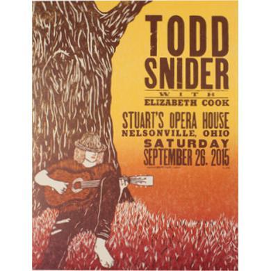 Todd Snider Stuart's Opera House 2015 Poster - 16.5 x 21.5