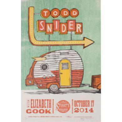 Todd Snider Stuart's Opera House 2014 Poster - 12.5 x 19