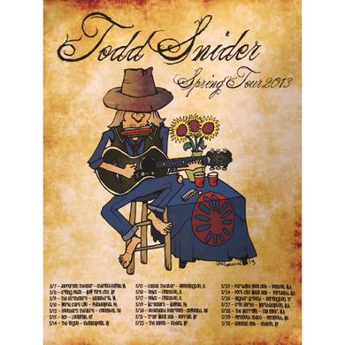 Todd Snider Spring Tour 2013 Poster - 16.25 x 20.25
