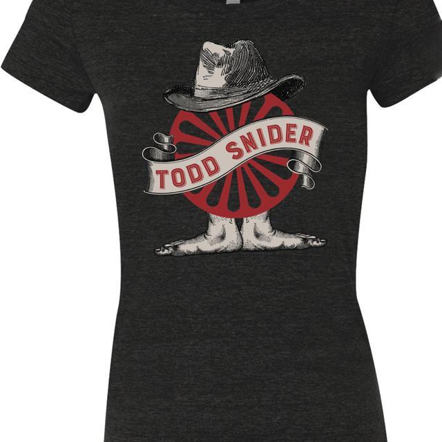 Todd Snider Women's Charcoal Wheel Tee