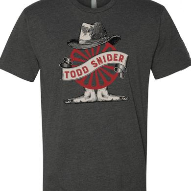Todd Snider Men's Charcoal Wheel T-shirt