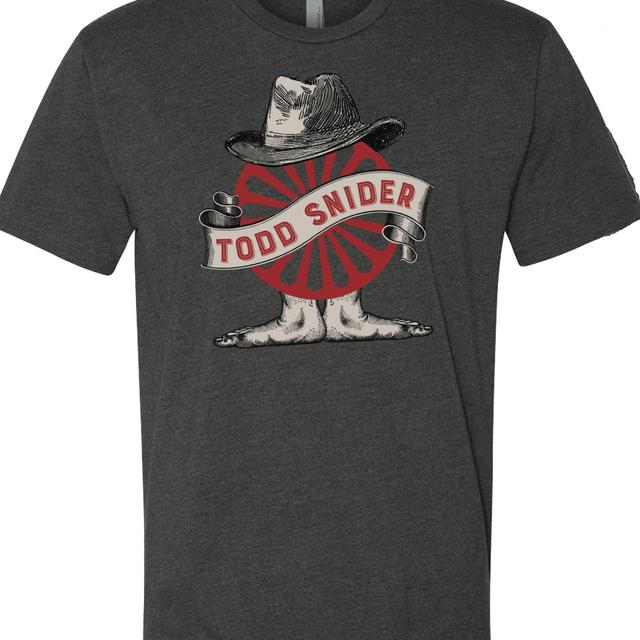 Todd Snider Men's Charcoal Wheel Tee