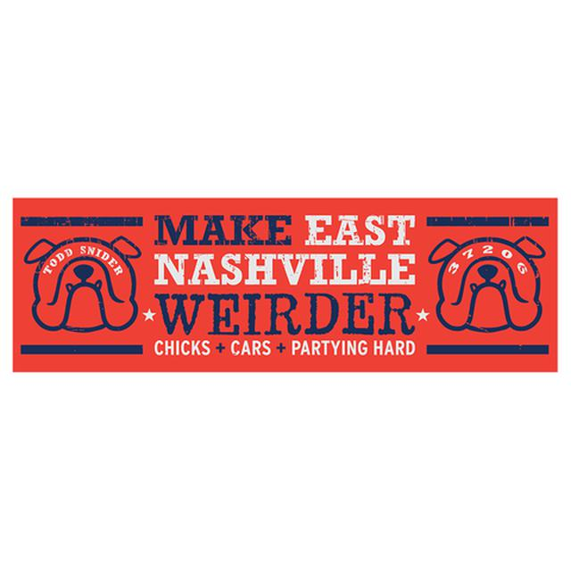 Todd Snider Eastside Bulldog Bumper Sticker - 11 x 3.5