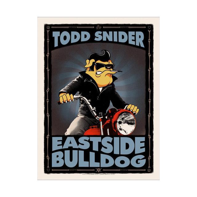 Todd Snider Signed Eastside Bulldog 18 x 24 Baker Screen Print