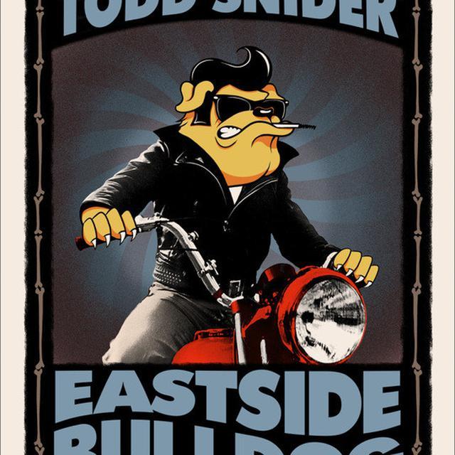 """Todd Snider Signed Eastside Bulldog 18""""x24"""" Baker Screen Print"""