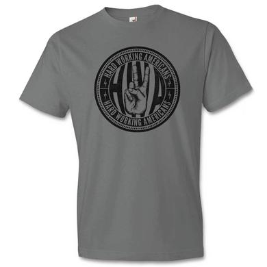 Hard Working Americans Grey Union Logo T-shirt