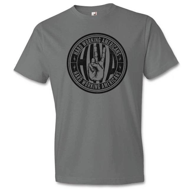 Hard Working Americans Grey Union Logo T-shirt