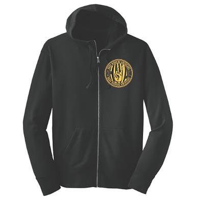 Hard Working Americans HWA Union Logo Black Zip-up Hoodie