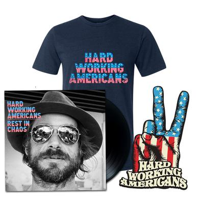 Hard Working Americans Deluxe Bundle (LP + Navy HWA T-Shirt)