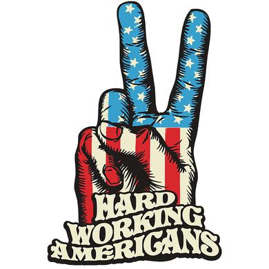 Hard Working Americans HWA Peace Sign Sticker