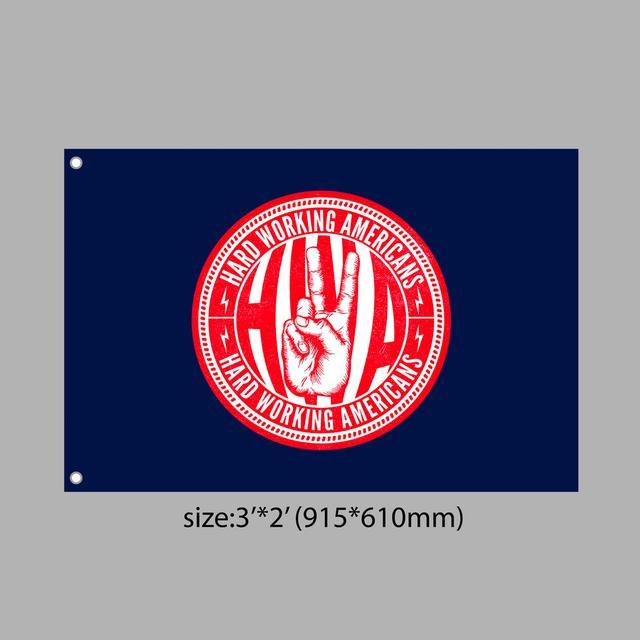Hard Working Americans HWA Union Logo Flag