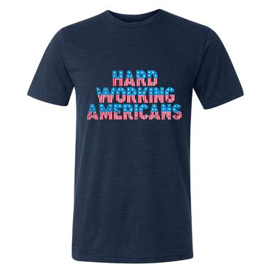Hard Working Americans HWA Navy Flag T-shirt