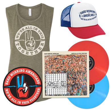 "Hard Working Americans PRE-ORDER ""We're All In This Together"" Limited Edition Deluxe Vinyl Bundle (3 shirt styles available)"