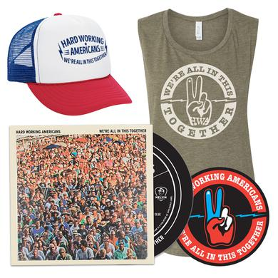 "Hard Working Americans PRE-ORDER ""We're All In This Together"" Deluxe CD Bundle (3 shirt styles available)"