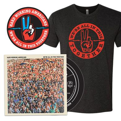 "Hard Working Americans PRE-ORDER ""We're All In This Together"" CD Bundle (3 shirt styles available)"