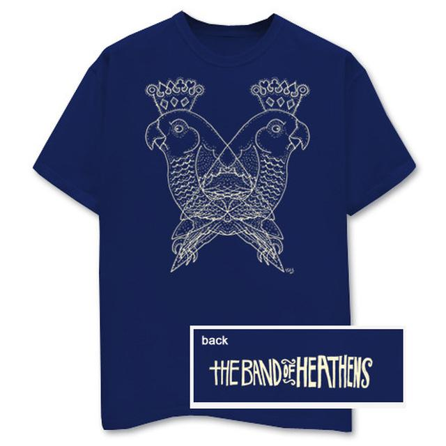 Band Of Heathens Two Birds Blue T-Shirt