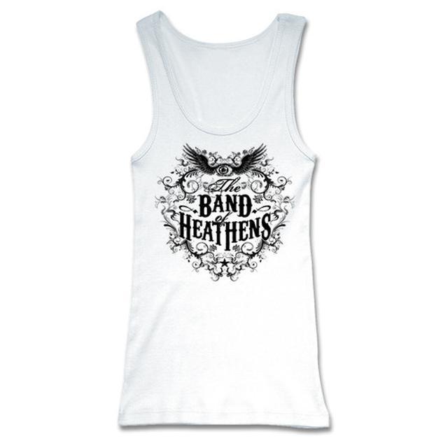 Band Of Heathens Ladies White Tank Top