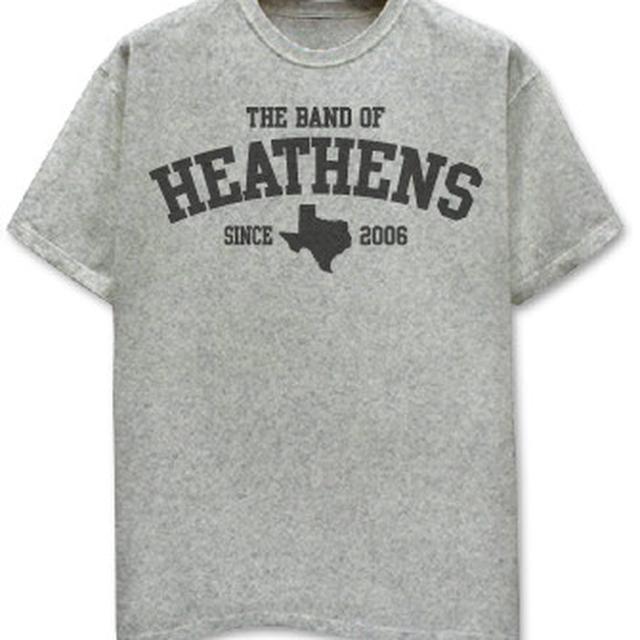 Band Of Heathens Texas Athletic Grey Tee
