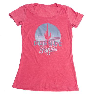 Band Of Heathens Ladies Red Duende T-Shirt (Grey Logo)