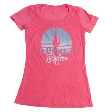 Band Of Heathens Ladies Red Duende T-Shirt (Grey Logo)