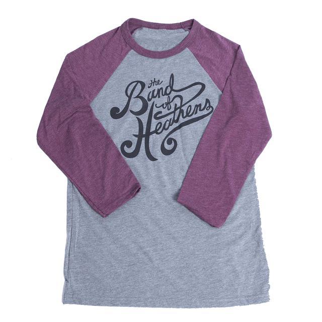 Band Of Heathens Raglan Grey/Purple T-Shirt