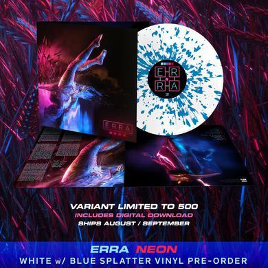 ERRA - 'Neon' White w/Blue Splatter Pre-Order Vinyl