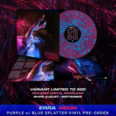 ERRA - 'Neon' Purple w/Blue Splatter Pre-Order Vinyl