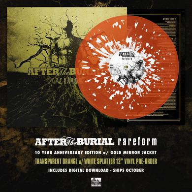 After The Burial - 'Rareform' 10 Year Anniversary Edition - Transparent Orange w/White Splatter Pre-Order Vinyl