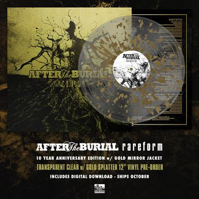 After The Burial - 'Rareform' 10 Year Anniversary Edition - Transparent Clear w/Gold Splatter Pre-Order Vinyl