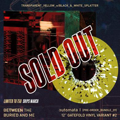 Between The Buried And Me - 'Automata I' Trans Yellow w/ Black & White Splatter Pre-Order Vinyl